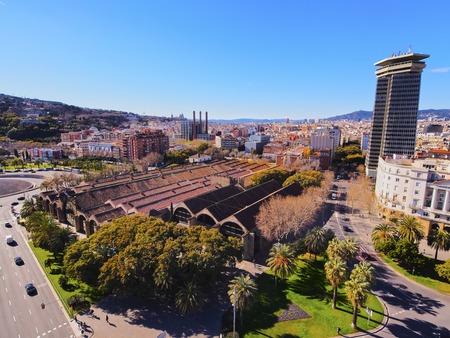 View from Mirador de Colon - Christopher Columbus Column in Barcelona, Catalonia, Spain