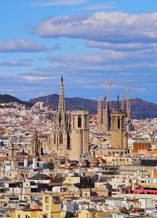 View from Mirador de Colon - Christopher Columbus Column in Barcelona, Catalonia, Spain photo