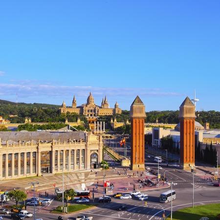 espanya: Placa Espanya - Spanish Square in Barcelona, Catalonia, Spain Editorial