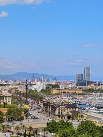 Barcelona Cityscape - view from Montjuic Hill, Catalonia, Spain