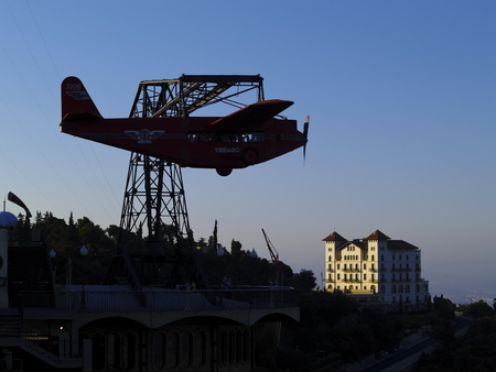 tibidabo: Tibidabo Amusement Park in Barcelona, Catalonia, Spain