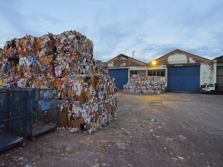 Wastepaper in Industrial District in Bilbao, Biscay, Basque Country, Spain Stock Photo - 28195660