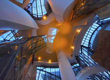 Interior view of The Guggenheim Museum in Bilbao, Biscay, Basque Country, Spain