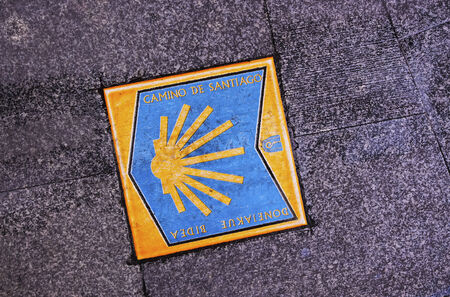 way of st  james: Way of St James Sign in Bilbao, Biscay, Basque Country, Spain