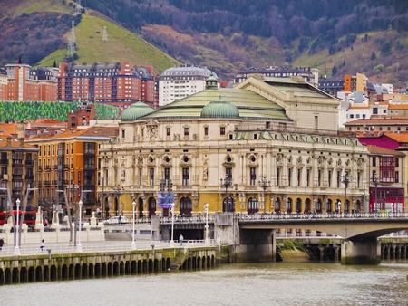 The Teatro Arriaga - an opera house on Plaza de Arriaga in Bilbao, Biscay, Basque Country, Spain