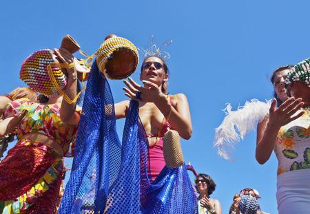 gloria: Brazil, State of Rio de Janeiro, City of Rio de Janeiro, Gloria, Bloco Orquestra Voadora Carnival Parade.