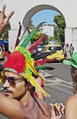 rio: Brazil, State of Rio de Janeiro, City of Rio de Janeiro, Lapa, Street Carnival. Editorial