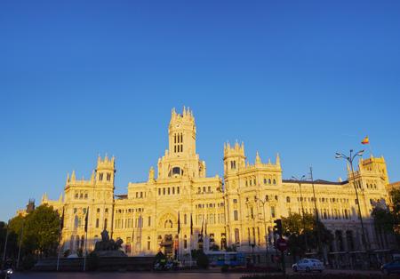 palacio de comunicaciones: Spain, Madrid, View of the Cybele Palace. Editorial