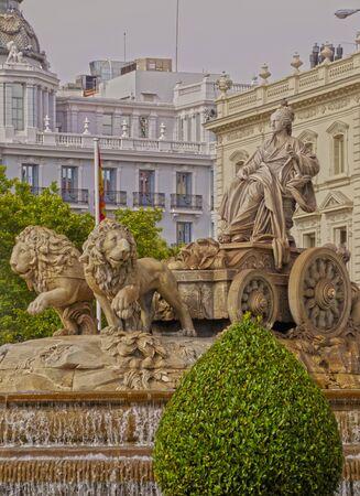 cibeles: Spain, Madrid,  Plaza de Cibeles, view of the Cibeles Fountain.