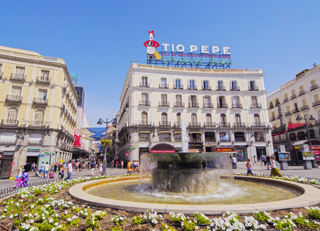 Spain, Madrid, View of the Puerta del Sol Square. Editorial