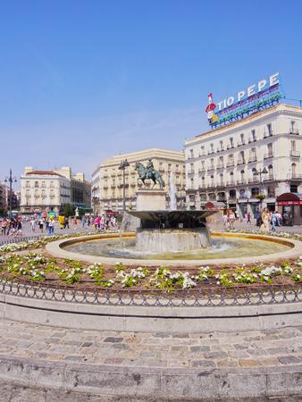 Spain, Madrid, View of the Puerta del Sol Square. Banco de Imagens