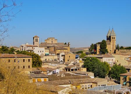 Spain, Castile La Mancha, Toledo, Skyline of the Old Town.