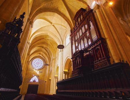 sain: Spain, Catalonia, Tarragona, Interior view of The Cathedral of Tarragona.  Stock Photo