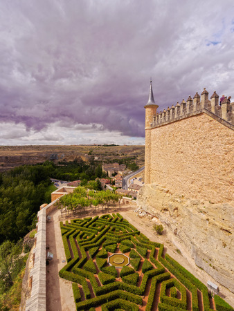 Spain, Castile and Leon, Segovia, View of the Alcazar.
