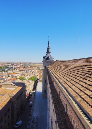 mancha: Spain, Castile La Mancha, Toledo, View of the Alcazar de Toledo.