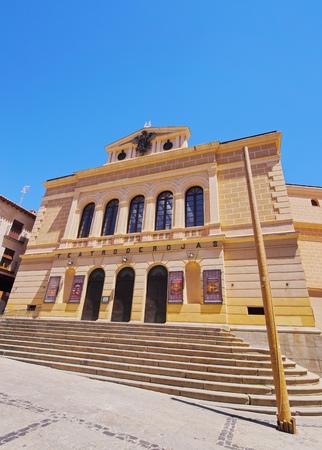 Spain, Castile La Mancha, Toledo, Plaza Mayor, View of the Teatro de Rojas. Editorial