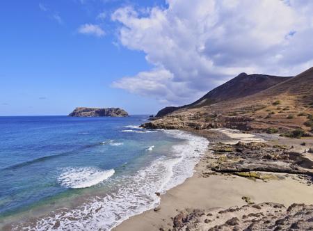 Portugal, Madeira Islands, Porto Santo, View of the shoreline of the island.