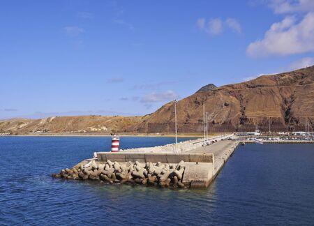 Portugal, Madeira Islands, Porto Santo, View of the Porto de Abrigo.