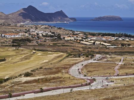 Portugal, Madeira Islands, Porto Santo, View of the Porto Santo Golf.