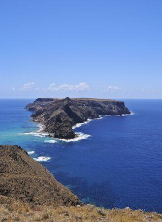 Portugal, Madeira Islands, Porto Santo, Ponta da Calheta View towards the Cal Islet.