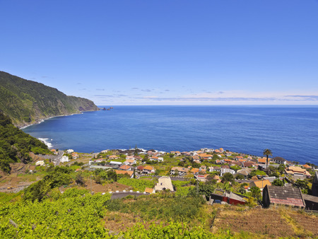 elevated: Portugal, Madeira, Elevated view of Seixal.