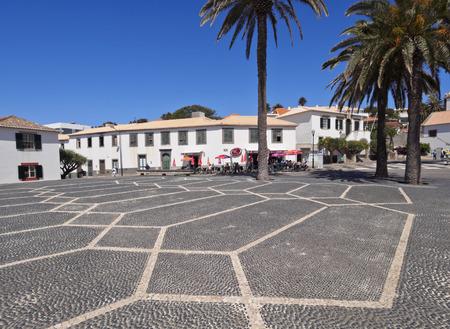 Portugal, Madeira Islands, Porto Santo, View of the Vila Baleira. Stock Photo