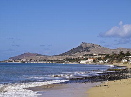 Portugal, Madeira Islands, Porto Santo, View of the sandy beach.