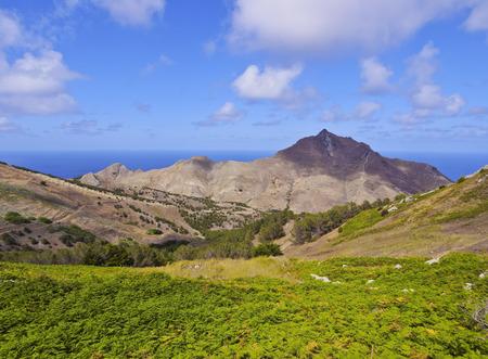 Portugal, Madeira Islands, Landscape of the Porto Santo Island.  Stock Photo