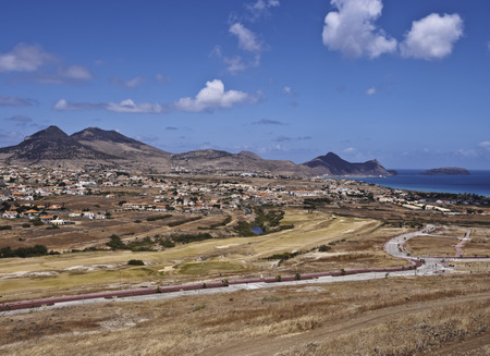 santo: Portugal, Madeira Islands, Porto Santo, View of the Porto Santo Golf.