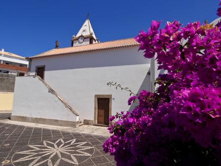 Portugal, Madeira Islands, Porto Santo, Vila Baleira, View of the Church Nossa Senhora da Piedade.