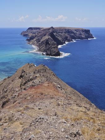 cal: Portugal, Madeira Islands, Porto Santo, Ponta da Calheta View towards the Cal Islet.