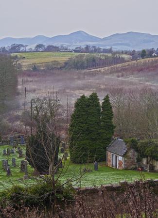 rosslyn: UK, Scotland, Midothian, Edinburgh Area, Landscape of Roslin.