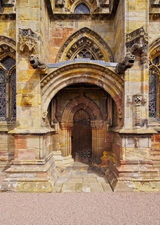 rosslyn: UK, Scotland, Midothian, Edinburgh Area, Roslin, View of the Rosslyn Chapel.
