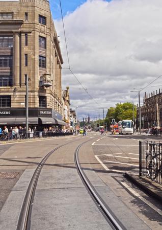 princes street: UK, Scotland, Lothian, Edinburgh, View of the Princes Street.