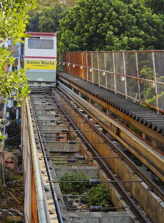 marta: Brazil, City of Rio de Janeiro, Cable Car in the Favela Santa Marta.