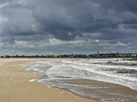 rocha: Uruguay, Rocha Department, View of the beach in Cabo Polonio. Stock Photo