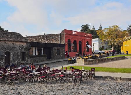 Uruguay, Colonia Department, Colonia del Sacramento, View of the historic quarter.