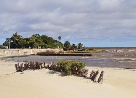 Uruguay, Montevideo, View of the Ramirez Beach.