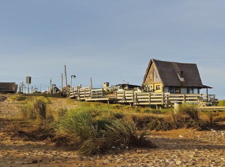 rocha: Uruguay, Rocha Department, Punta del Diablo, Houses near la Viuda Beach.