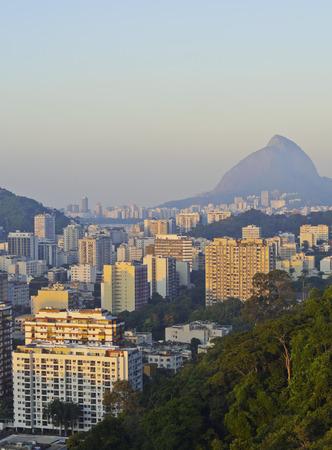 marta: Brazil, City of Rio de Janeiro, Cityscape of Rio viewed from the top of the Favela Santa Marta.