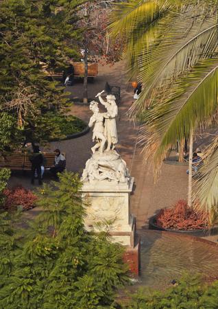 Chile, Santiago, View of the Plaza de Armas.