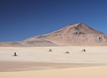 Bolivia, Potosi Departmant, Sur Lipez Province, Eduardo Avaroa Andean Fauna National Reserve, Landscape of the Dali Desert.