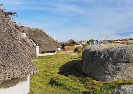 rocha: Uruguay, Rocha Department, View of the Punta del Diablo. Stock Photo