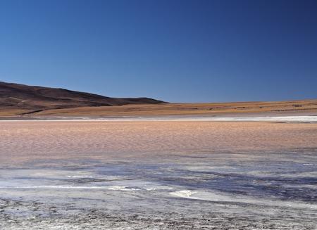 avaroa: Bolivia, Potosi Departmant, Sur Lipez Province, Eduardo Avaroa Andean Fauna National Reserve, Landscape of the Laguna Colorada.