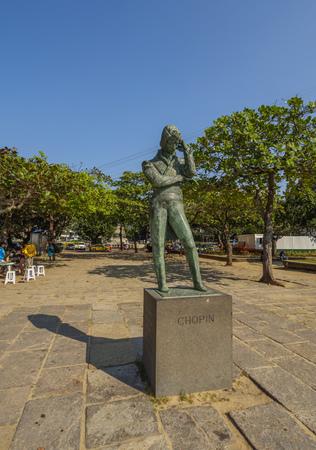 Brazil, City of Rio de Janeiro, Urca, Chopin Monument on Praia Vermelha.