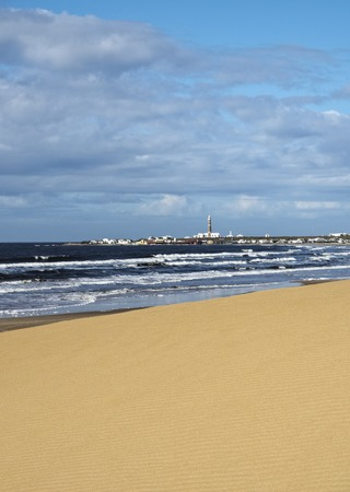 rocha: Uruguay, Rocha Department, Cabo Polonio seen from the dunes.