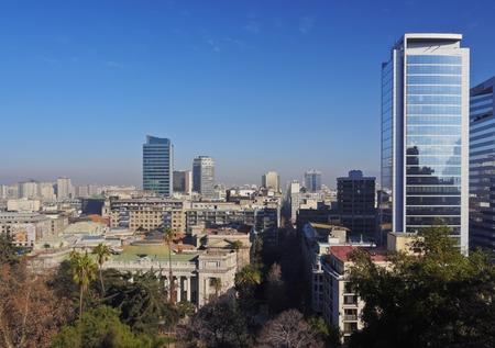 Chili, Santiago, Paysage urbain vu de Lucia de Santa.