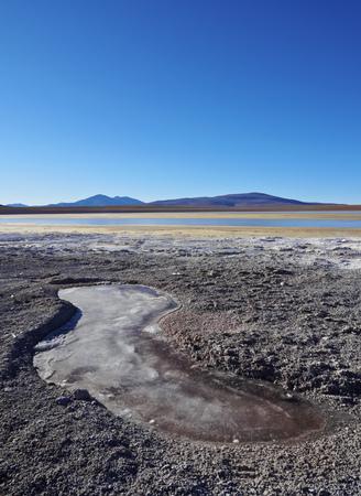 avaroa: Bolivia, Potosi Departmant, Sur Lipez Province, Eduardo Avaroa Andean Fauna National Reserve, Landscape of the Hedionda Lagoon.