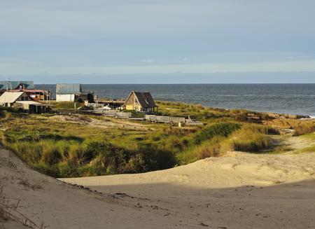 rocha: Uruguay, Rocha Department, Punta del Diablo, View of the la Viuda Beach Dunes.