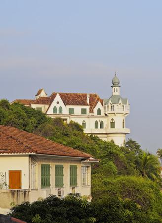 Brazil, City of Rio de Janeiro, View of the Santa Teresa Neighbourhood with the Castelo do Valentim.